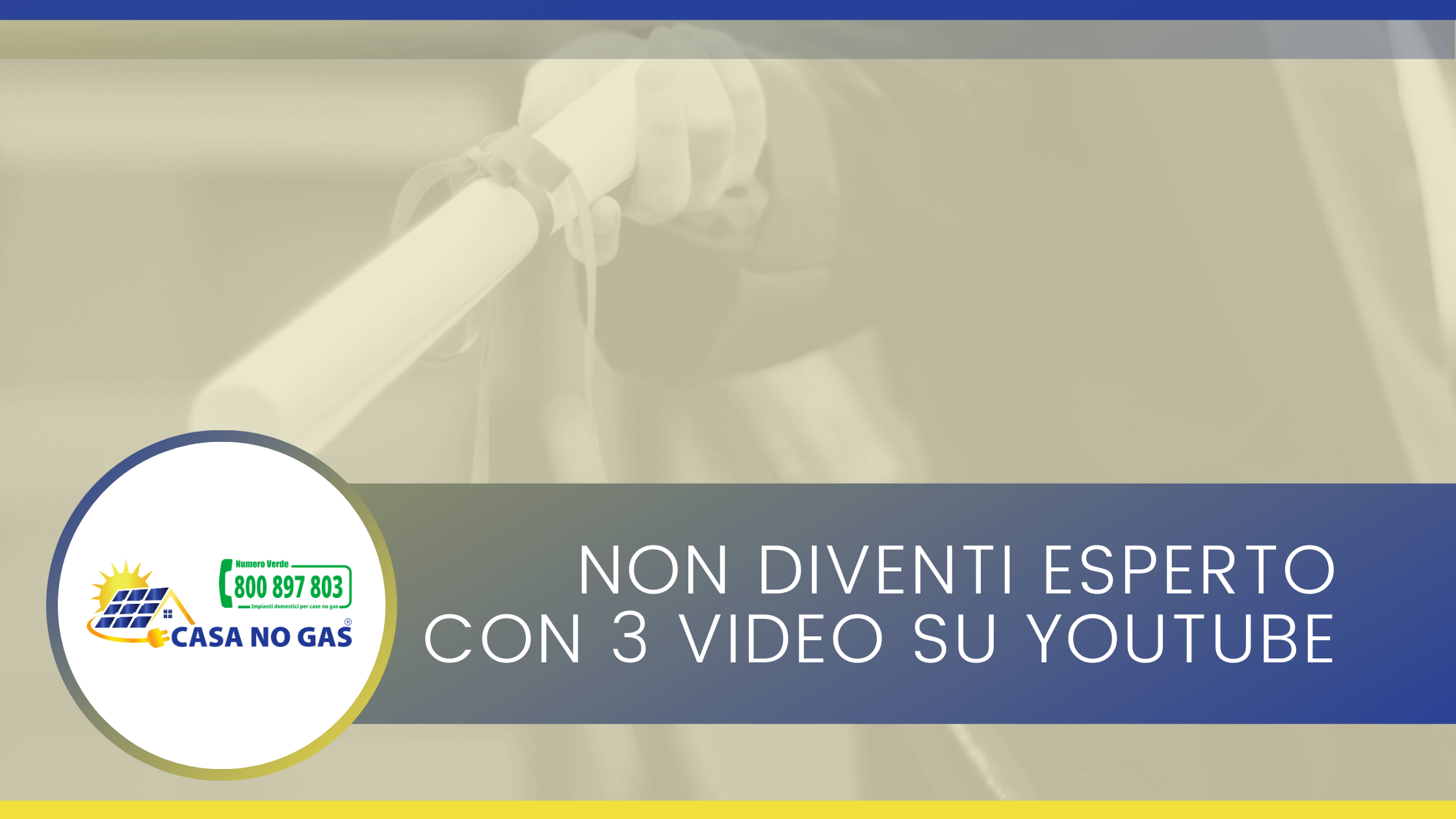 Non diventi esperto con tre video su YouTube